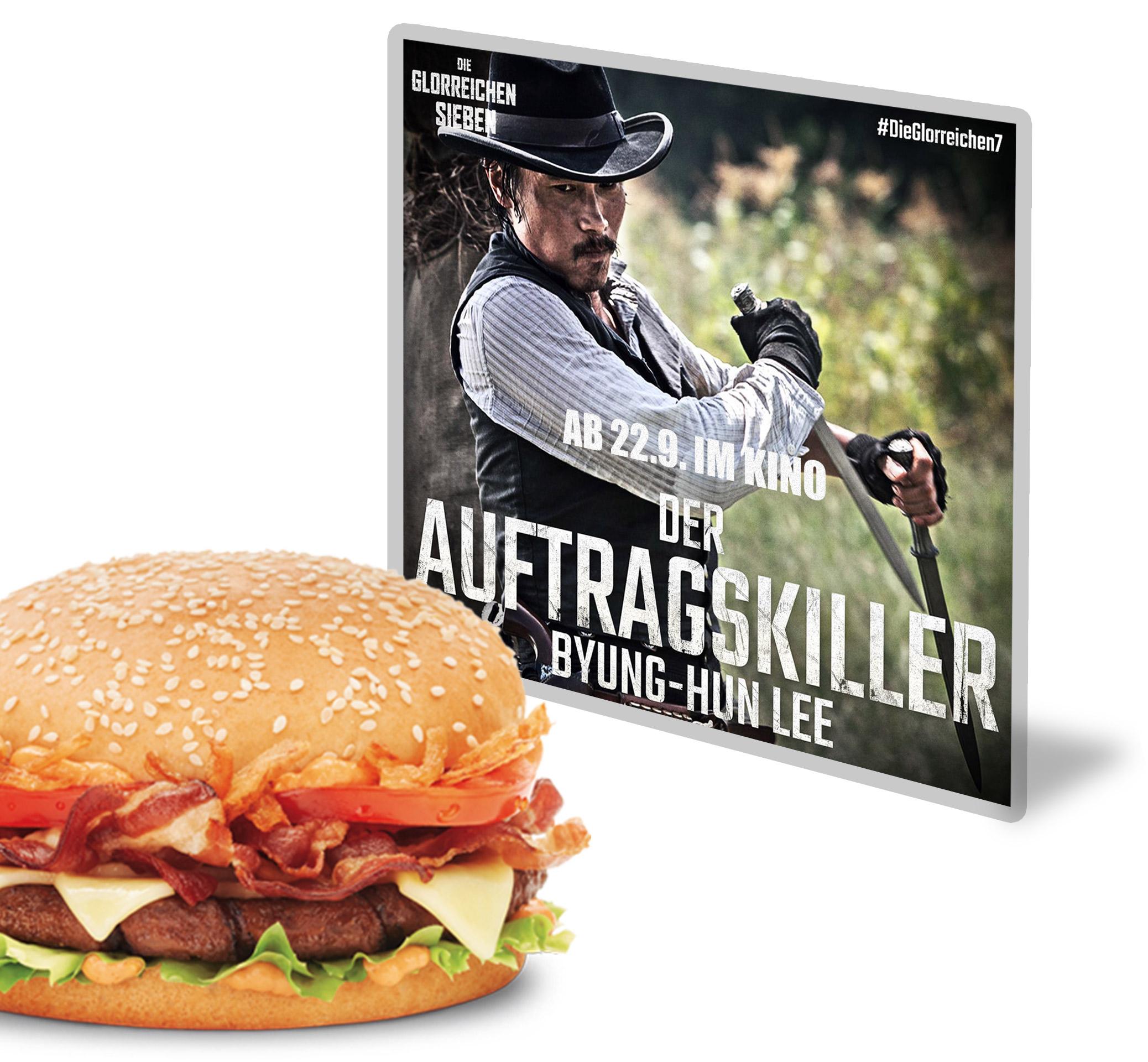 Die glorreichen 7 burgerme Röstzwiebel Burger