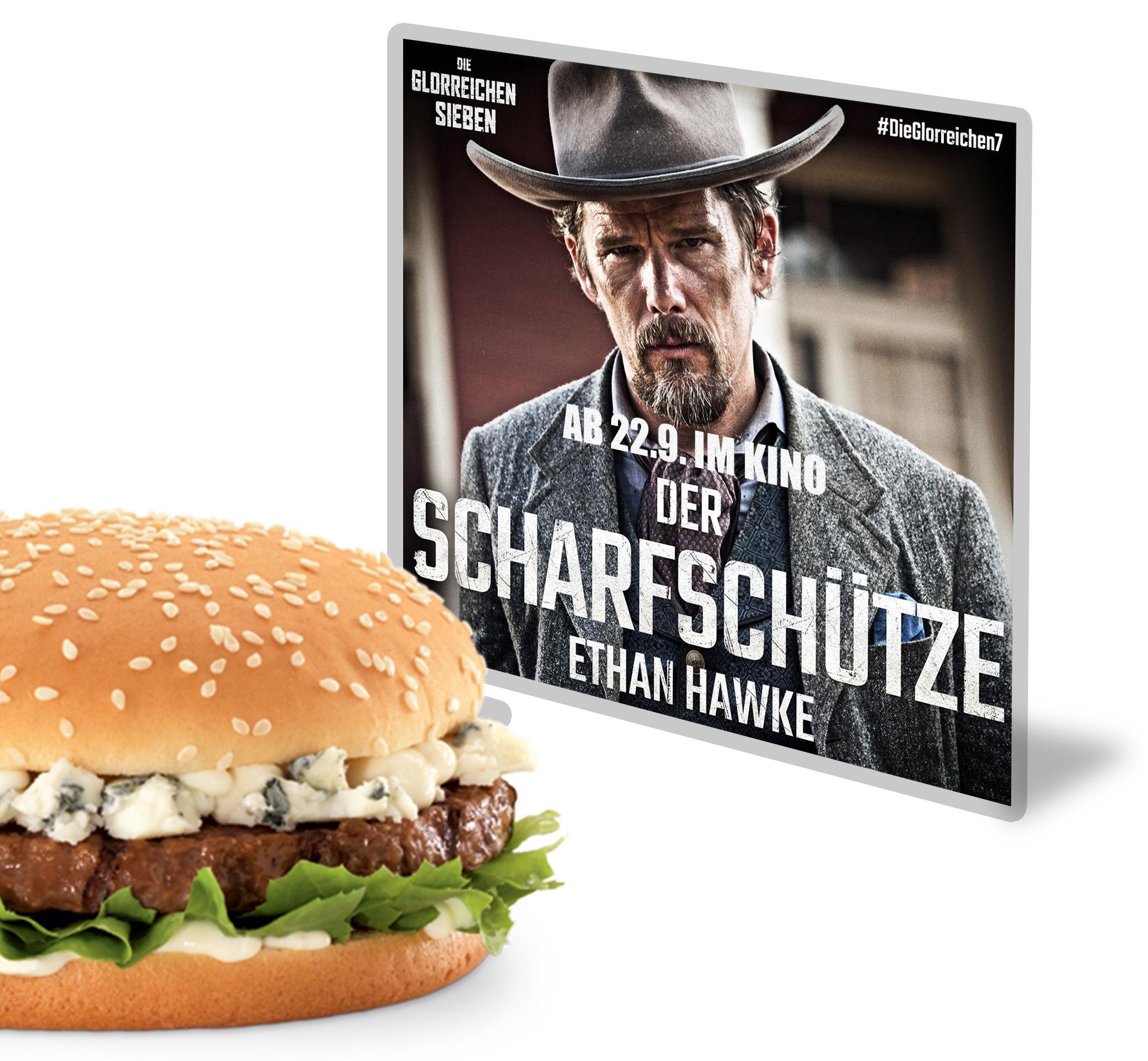 Die glorreichen 7 burgerme Gorgonzola Burger