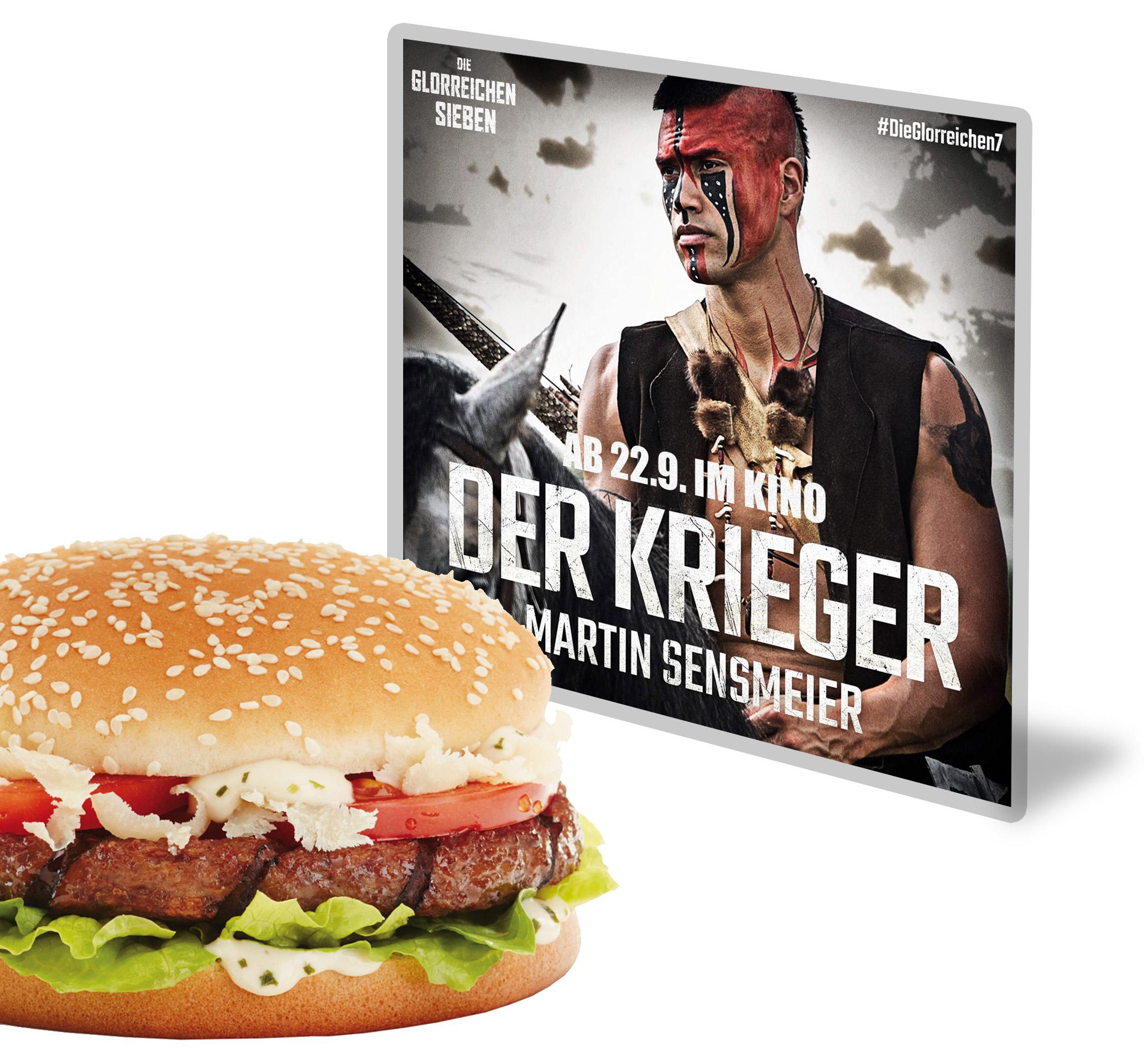 Die glorreichen 7 burgerme Caesar Burger