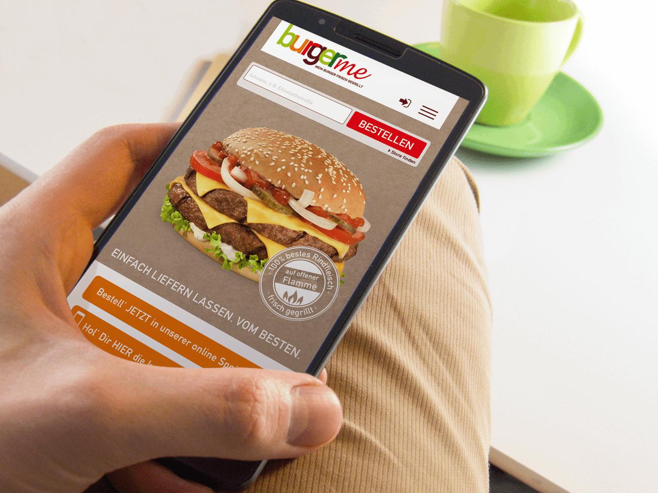 Burgerme mobil mit App bestellen