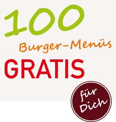 burgerme Burger Lieferservice 100 Burger Menüs gratis